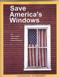 The cover of John Leeke's handbook of window restoration, which contains detailed step-by-step procedures – along with numerous diagrams of historic window construction and details.
